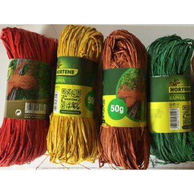 RAFFIA NATURAL természetes kötöző, 50 g, színes (zöld, sárga, piros vegyesen)