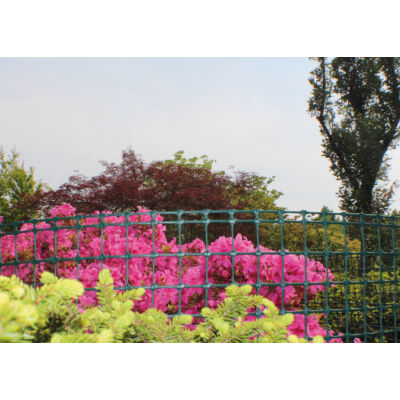 MEGASQUARE műanyag kerti rács 1x5m, zöld
