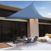 SUN-NET KIT POLYESTER kifeszíthető háromszög alakú napvitorla, 3,6x3,6x3,6 m, kék