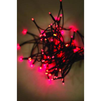 LED fényfüzér, piros, 120 LED, 9,6 méter