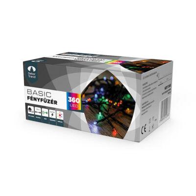 Dekortrend Kültéri LED Fényfüzér 360 db SZÍNES LED-del,  timer funkcióval