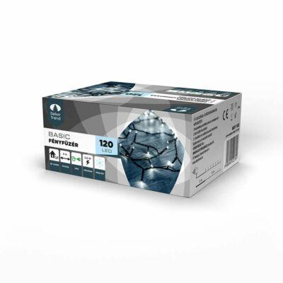 Dekortrend Kültéri LED Fényfüzér 180 db HIDEG FEHÉR LED-del,  timer funkcióval