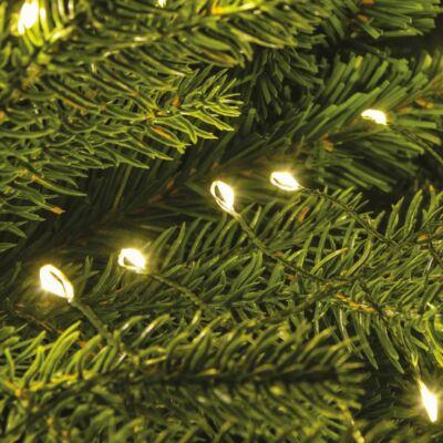 Tündérfény girland, zöld kábel, meleg fehér, 500 LED, 5 méter