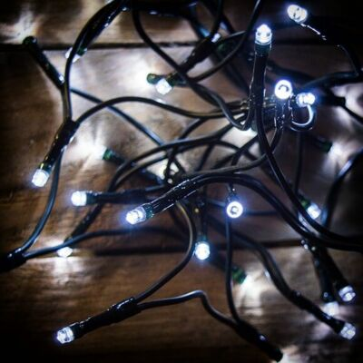 LED fényfüzér, hideg fehér, 80 LED, 6,4 méter