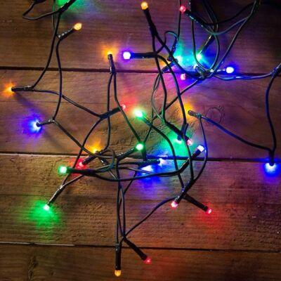 LED fényfüzér, multi, 180 LED, 14,5 méter