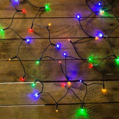LED fényfüzér, multi, 80 LED, 6,4 méter