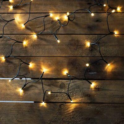 LED fényfüzér, meleg fehér, 80 LED, 6,4 méter