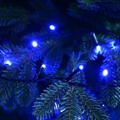 Vezérlős LED fényfüzér - kék 9 m, 176 LED