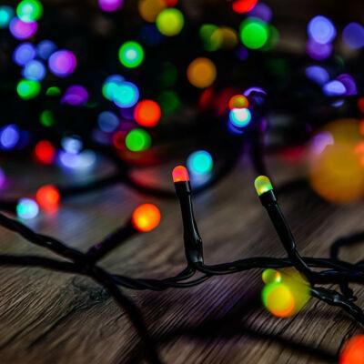 Heylight okos fényfüzér, 160 RGB LED, fekete kábel, 16 méter