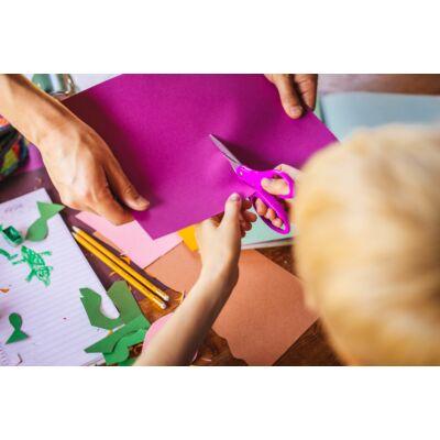 Gyermekolló, 15 cm, lila