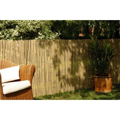 BAMBOOCANE természetes hasított bambusznád árnyékoló-, belátáskorlátozó kerítés 1x5m, natúr