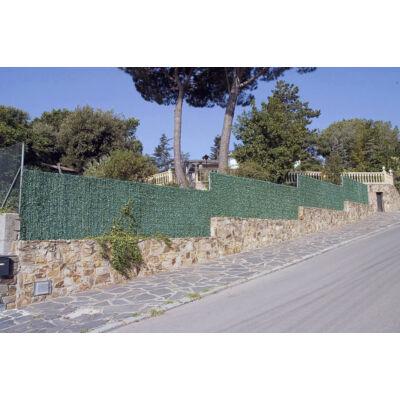 GREENWITCH galvanizált drótszerkezetre épített sövény jellegű kerítés, 2x3m, zöld-barna