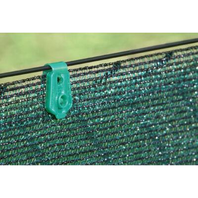 FIXATEX rögzítő kapocs szőtt árnyékoló hálókhoz, zöld, 20 db