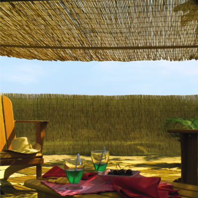 REEDCANE természetes árnyékoló-, belátásgátló kínai bambusznád háló, 1x5m, natúr