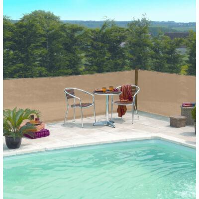 EXTRANET szőtt árnyékoló-, belátásgátló háló, 2x50m, barna