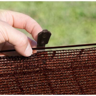 FIXATEX rögzítő kapocs szőtt árnyékoló hálókhoz, barna, 20 db