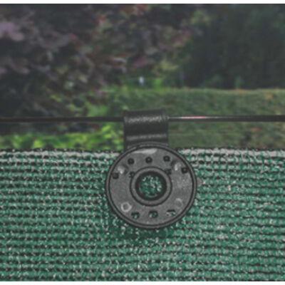 FIXATEX rögzítő kapocs szőtt árnyékoló hálókhoz, fekete, 15 db