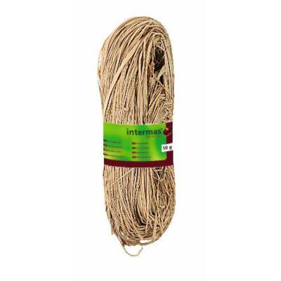 RAFFIA NATURAL természetes kötöző, 500 g, fehér