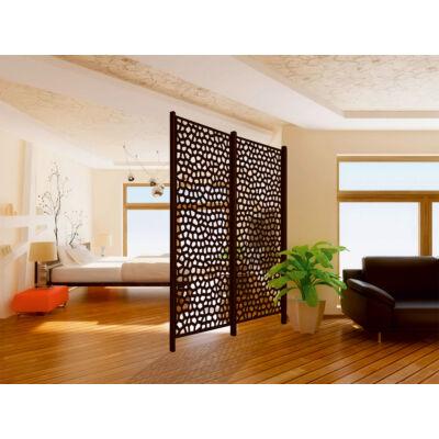 Mosaic térelválasztó és futtató panel 1 x 2 m, barna