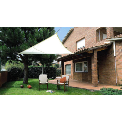 SUN-NET KIT POLYESTER kifeszíthető háromszög alakú napvitorla, 3,6x3,6x3,6 m, beige